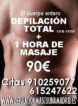Relajacion Absoluta..Depilacion Total mas masaje relajante, 90eur