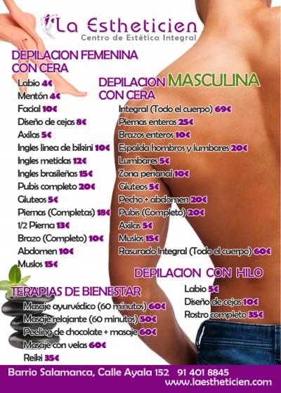 Depila tu cuerpo y luce higiénico y presentable por 69 euros!!!!!