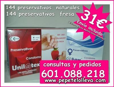 Ofertón! 2 cajas de 144 preservativos 31 €