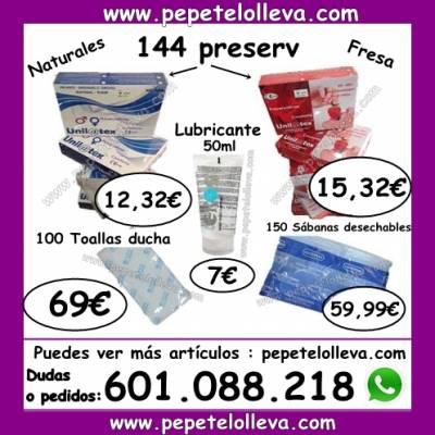 TE PRESENTAMOS 144 PRESERVATIVOS UNILATEX 12,32 €