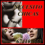 BUSCAMOS CHICAS! SOLO FINDES O NOCHES… 674402663
